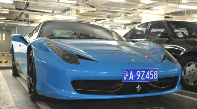 seen a few days ago in an underground parking lot in the great city of shanghai here we have the fantastic ferrari 458 italia in baby blue - Ferrari 458 Italia Blue