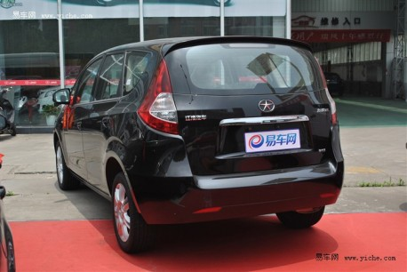 facelifted JAC Heyue RS without camouflage in China