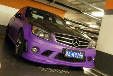Mercedes-Benz C63 AMG in Purple in China