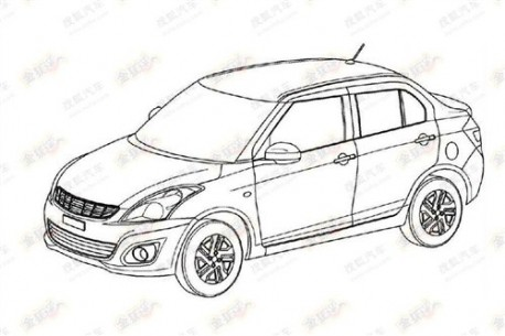 Patent Applied: Suzuki Swift sedan coming to China