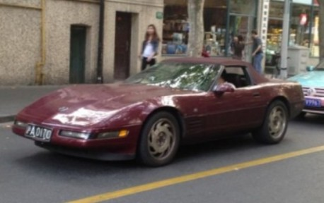 Spotted in China: C4 Chevrolet Corvette Convertible