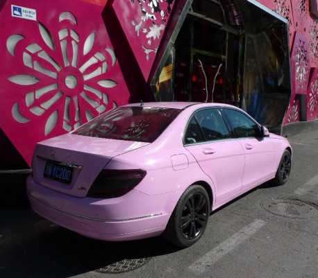 Mercedes-Benz C200 is Pink in China