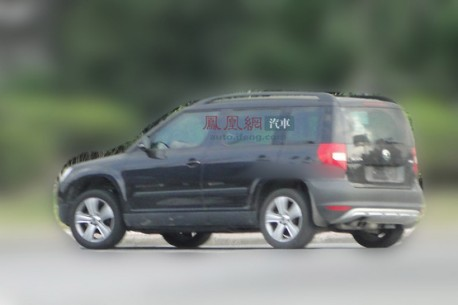 Spy Shots: stretched Skoda Yeti testing in China