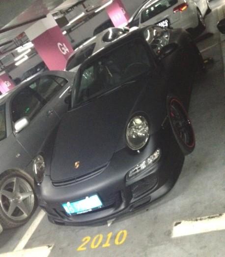Porsche 911 GT3 is matte black in China