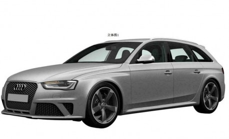 Patent Applied: Audi RS4 Avant is coming to China