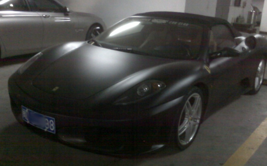 Ferrari F430 Spider Is Matte Black In China