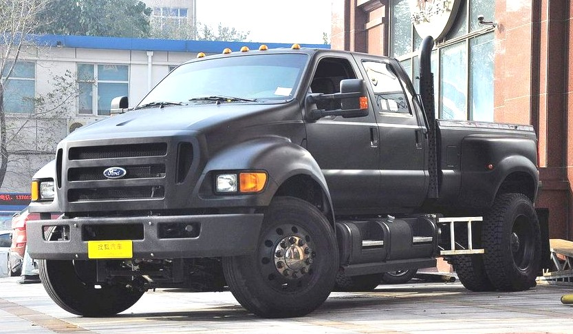 ford f 650 super duty is matte black in china china auto news. Black Bedroom Furniture Sets. Home Design Ideas