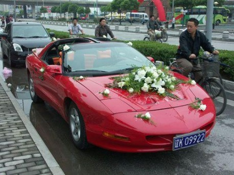 Pontiac Firebird is a Wedding Car in China