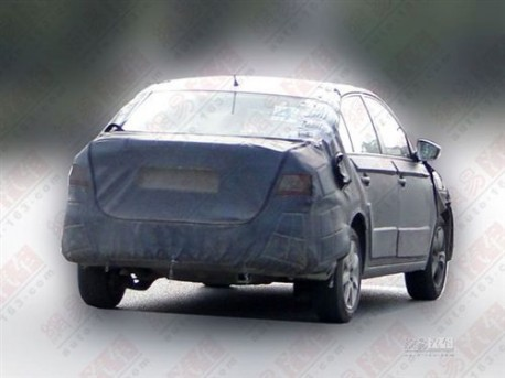 Spy Shots: Skoda Rapid seen testing in China