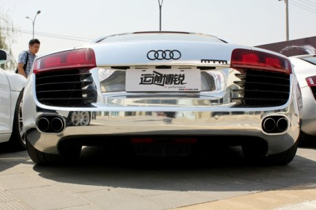 aAudi R8 is Bling in China