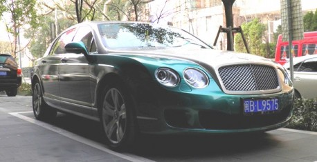 Bentley Continental Flying Spur in dual tone in China