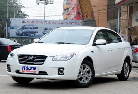 Spy Shots: facelifted FAW-Besturn B50 testing in China