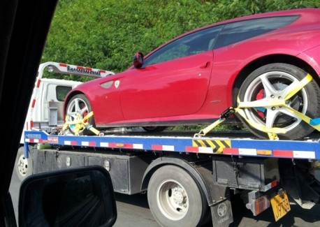 Ferrari FF on a Truck in China