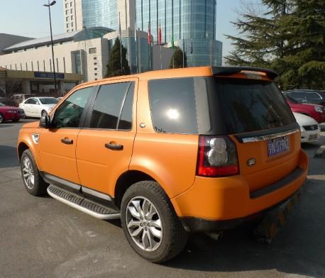 Land Rover Freelander is matte orange in China