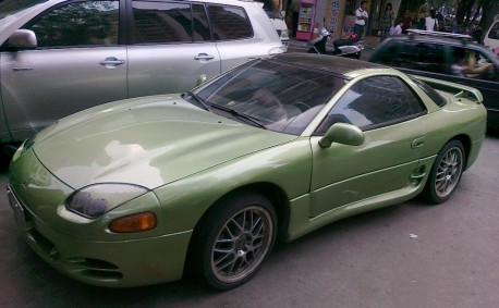 Spotted in China: Mitsubishi 3000GT in green