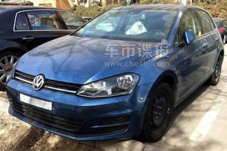 Spy Shots: Volkswagen Golf 7 gets Ready for the Chinese auto market