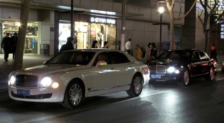 Bentley Mulsanne times two in Shanghai, China