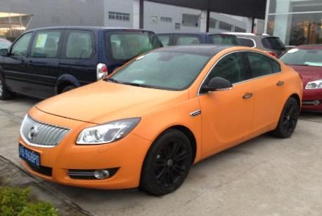 Buick Regal is matte orange in China