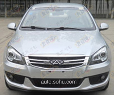 Spy Shots: facelift for the Chery A3 in China