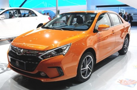 Production version of the BYD Qin hits the Shanghai Auto Show