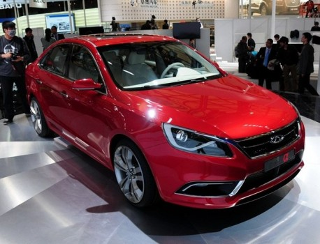 Chery Alpha 7 debuts on the Shanghai Auto Show