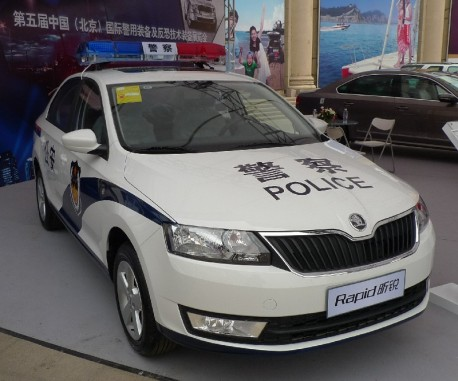 Skoda Rapid police car from China