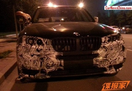 Spy Shots: 2014 BMW X3 facelift testing in China