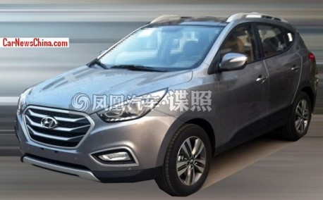 Spy Shots: facelifted Hyundai ix35 testing in China