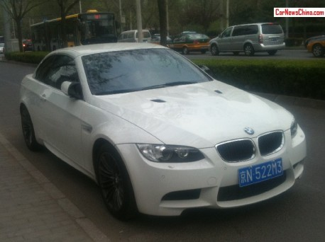 White BMW M3 Convertible has a License in China