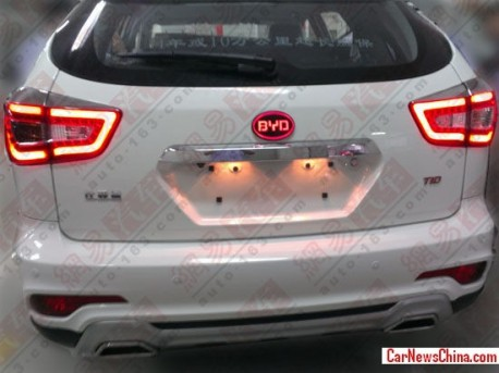 Spy Shots: BYD S7 testing in China