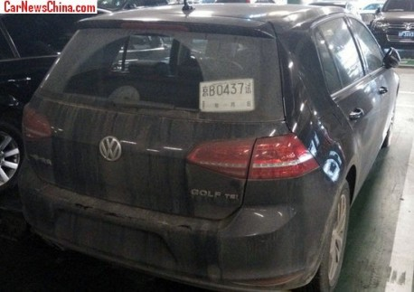 Spy Shots: China-made Volkswagen Golf 7 seen in Beijing