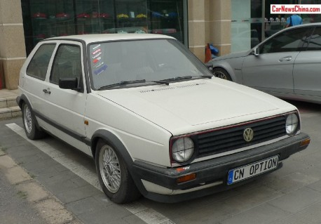 Spotted in China: sporty Volkswagen Golf Mk2