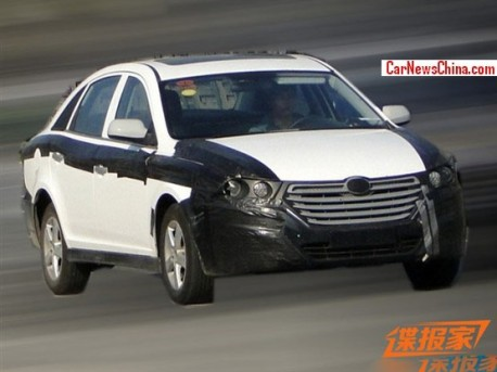 Spy Shots: FAW-Besturn B30 sedan testing in China