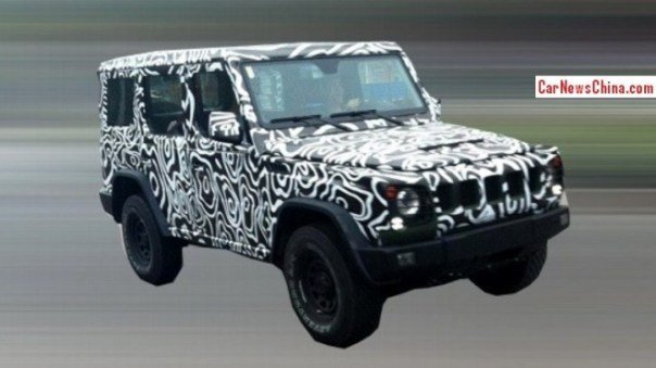 Spy Shots: Beijing Auto B80 seen testing in China again