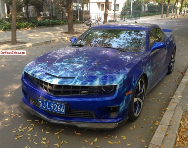 Spotted in China: Chevrolet Camaro SS with some Skulls