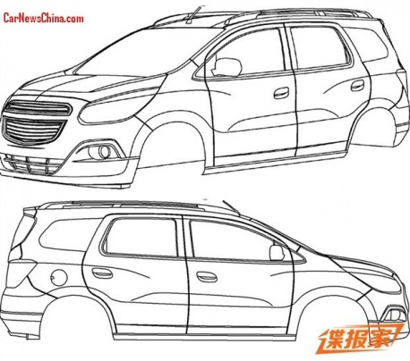 Patent Applied: Chevrolet Spin MPV to come to China