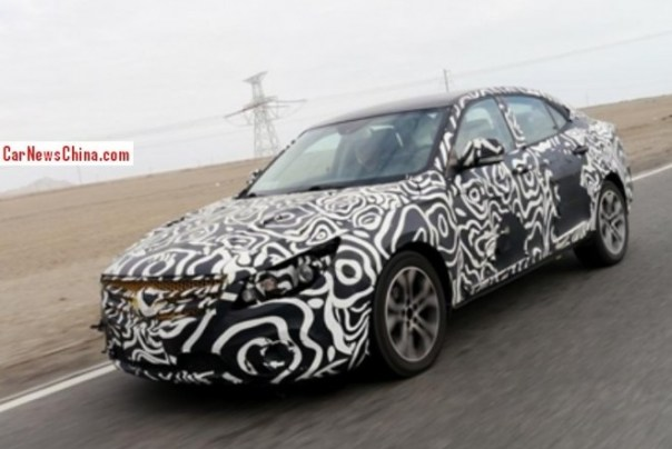 Spy Shots: Beijing Auto C60 testing in the mountains in China