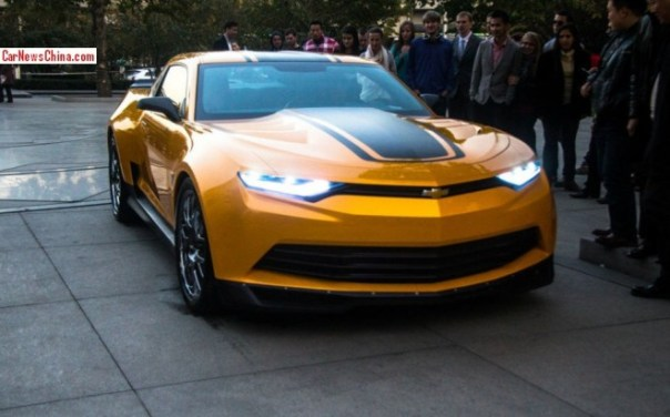 New photos of Bumblebee in China for filming Transformers: Age of Extinction