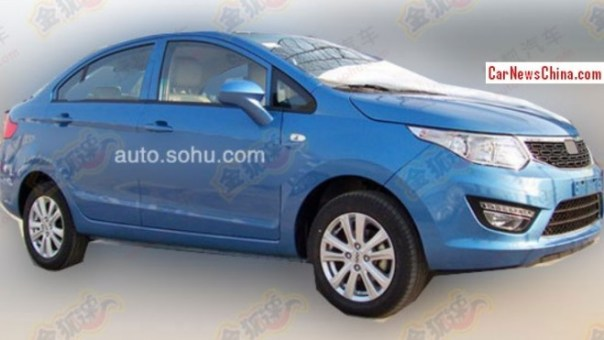Spy Shots: Chery E2 sedan seen testing in China