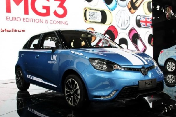 Facelifted MG3 debuts on the 2013 Guangzhou Auto Show