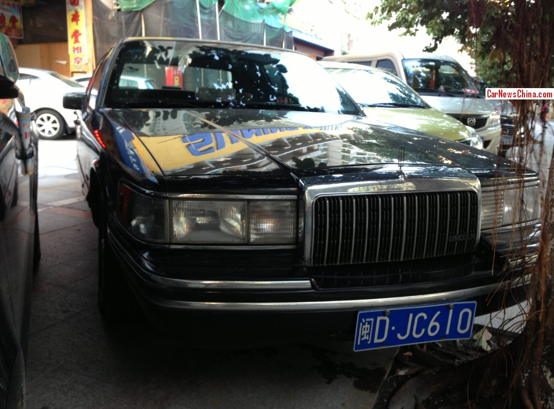 hight resolution of spotted in china lincoln town car in black