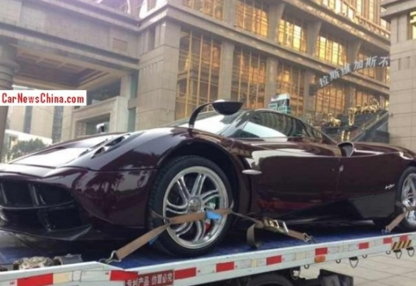 First Pagani Huayra arrives in China
