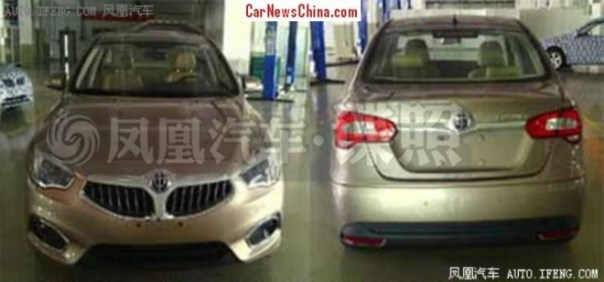 Spy Shots: facelifted Brilliance H530 sedan is Naked in China