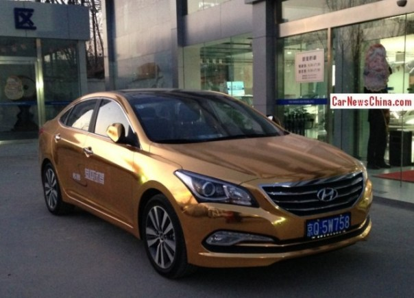 Bling! Hyundai Mistra in shiny gold in China