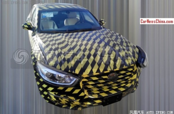 Spy Shots: new JAC mid-size sedan testing in China