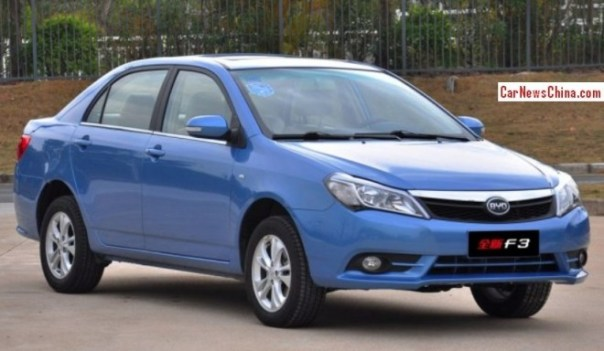 Facelifted BYD F3 launched on the China car market