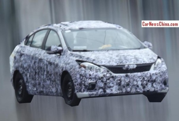 Spy Shots: Chery Arrizo 5 testing in China