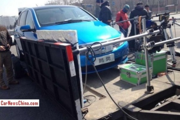 Spy Shots: BYD-Daimler Denza caught being a movie star