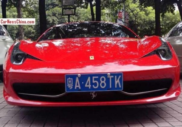 Ferrari 458 Italia has a License in Shenzhen, China