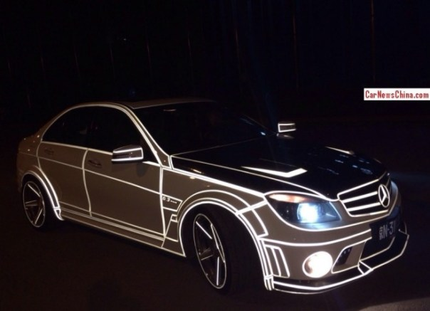 Mercedes-Benz C63 AMG Renntech C74 glows in the Dark in China